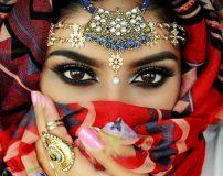 آرایش چشم هندی عروس با طرح و مدل 2017