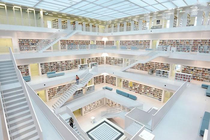 کتابخانه اشتوتگارت آلمان بهترین کتابخانه دنیا است + تصاویر