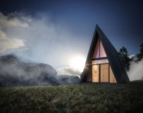 خانه مثلثی شکل در بلندترین نقطه کوهستانی جهان + تصاویر
