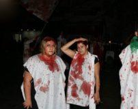 تصاویر دختران بی حجاب در حال قمه زنی روز عاشورا