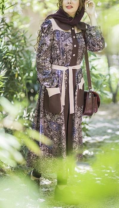 مدل مانتو سنتی بلند با طرح های جدید و استثنایی