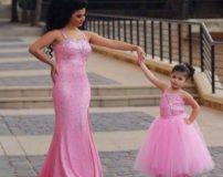 ست لباس مجلسی مادر و دختر (60 مدل)