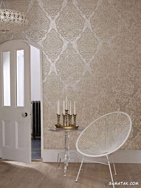 کاغذ دیواری مخملی؛ عکس انواع مدل کاغذ دیواری مخملی ساده جدید
