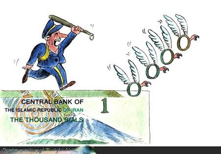 کاریکاتورهای خنده دار تغییر پول ایران از ریال به تومان