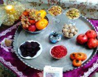 تصاویری از سفره شب یلدا با تزیینات قدیمی و سنتی