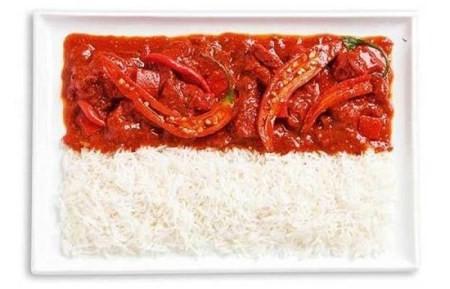 خلاقیت جالب در ساخت پرچم هر مملکت با غذاهای سنتی آن کشور