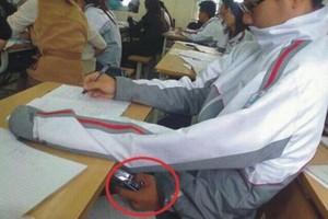 تصاویر خنده دار تقلب کردن دانشجویان سر جلسه امتحان
