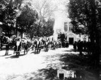 گزارش تصویری مراسم کفن و دفن ناصرالدین شاه قاجار