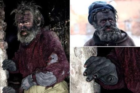 کثیف ترین مرد جهان که 60 سال حمام نرفته است + تصاویر