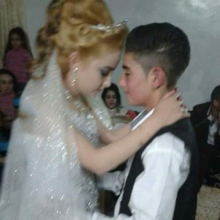 آلبوم عکس عروسی و شب زفاف زوج 14 ساله اهل سوریه