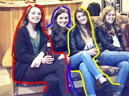 چالش جالب و دیدنی 6 دختر با 5 جفت پا در عکس