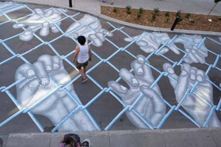 نقاشی های زیبا و دیدنی روی آسفالت خیابان ها + تصاویر