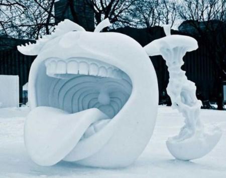 طراحی مجسمه های برفی جالب و زیبا + تصاویر