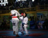 عکس دختران کاراته کار خوش استایل در لیگ کاراته
