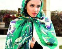 انواع شیک ترین مدل های روسری رنگ سبز ویژه سال 96