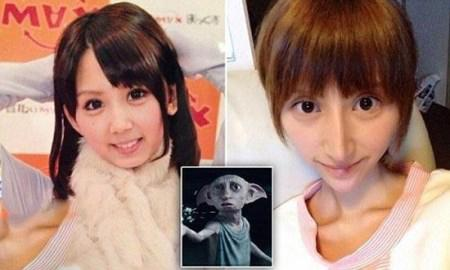 دختر زیبای ژاپنی خودش را شبیه جن دابی کرد! + تصاویر