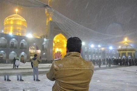 عکس های برفی مشهد
