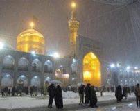 عکس های بارش برف در حرم امام رضا مشهد