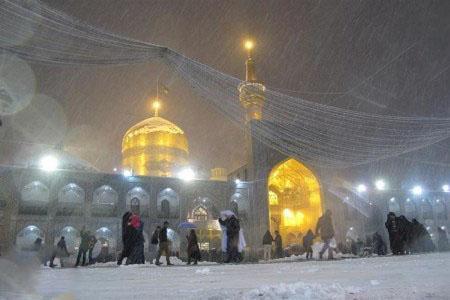 عکس برف مشهد