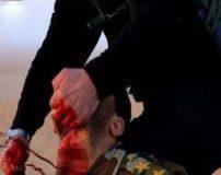 تصاویر دلخراش سر بریدن انسان توسط داعش