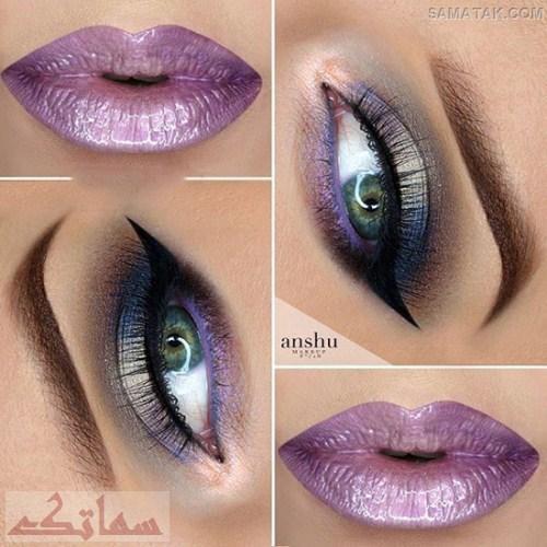 انواع مدل های آرایش چشم و لب و ابرو عید نوروز