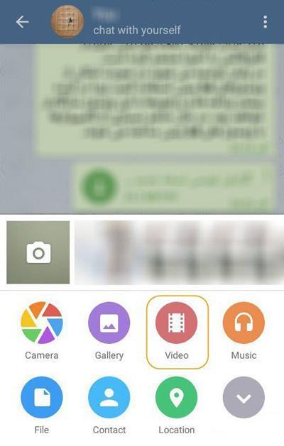 آموزش تبدیل ویدئو به گیف در اپلیکیشن تلگرام + تصاویر