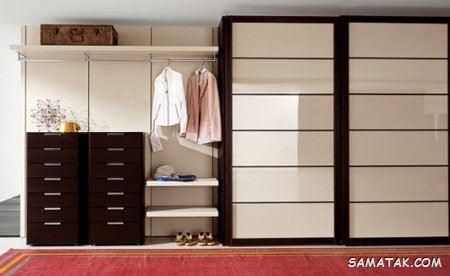 100 مدل کمد دیواری اتاق خواب؛ انواع کمد دیواری جادار برای اتاق کوچک