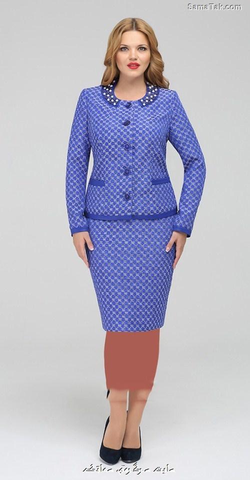 مدل کت و دامن مجلسی زنانه سایز بزرگ