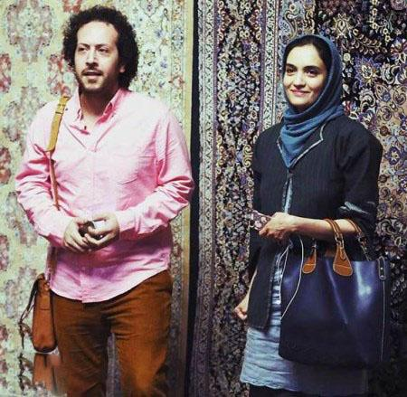 عکس لو رفته میترا حجار کنار همسرش