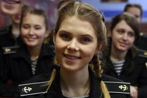 عکس های زیباترین سربازان دختر در نیروی دریایی روسیه