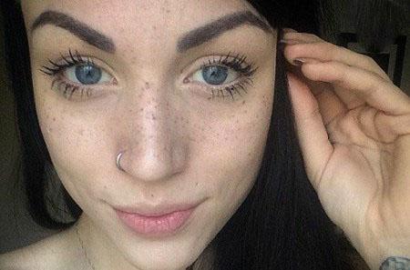 تاتوی کک و مک مد جدید روی صورت دختران + تصاویر
