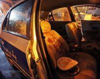 تصاویر تکان دهنده از برخورد ترقه پیازی با خودروی پلیس مشهد