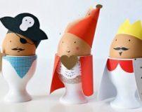 تزیین تخم مرغ به صورت عروسک های فانتزی