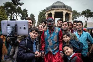 مراسم سال تحویل در حافظیه شیراز + تصاویر