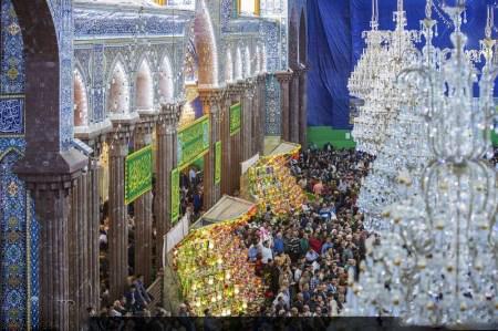 مراسم آغاز سال نو در حرم مطهر امام حسین (ع)