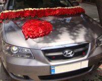 مدل های از تزیین ماشین عروس با رز های قرمز