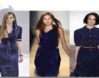 انواع مدل لباس مجلسی با رنگ سورمه ای