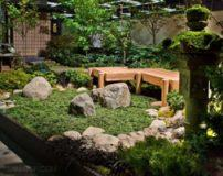 مدل باغچه با طرح های شیک به شیوه ژاپنی