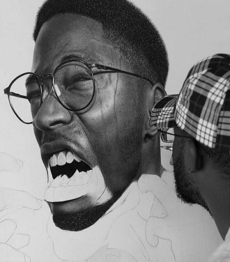 صورت های نقاشی شده واقعی با گرافیک و زغال