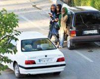عکس های زنان و دختران فراری در حال پرسه زدن در تهران