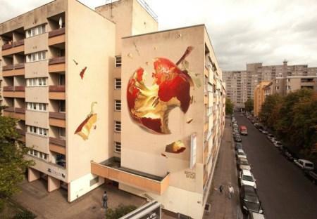 نقاشی های دیواری زیبا و جذاب از هنرمند سوییسی
