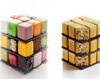 تزیین جالب کیک با طرح مکعب روبیک + تصاویر