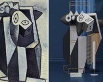 نقاشی های سه بعدی پیکاسو به اشکال مجسمه