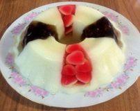 طرز تهیه ژله ویترینی با میوه های خرد شده یا پاستیل