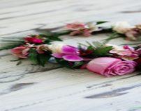 آموزش تصویری ساخت تاج گل عروس