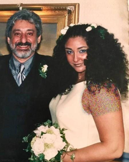 جشن سالگرد ازدواج ابی و همسرش مهشید + تصاویر