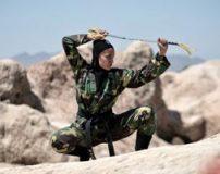 تمرینات رزمی دختران نینجا کار ایران (عکس)