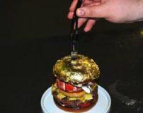 طبخ همبرگر با روکش طلا در اغذیه فروشی بچه پولدارها
