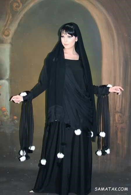 مانتو عربی نگین کاری شده در طرح ها و مدل های مختلف