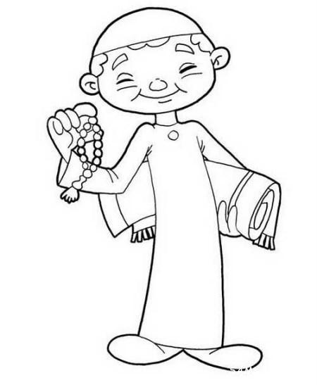 نقاشی کودکانه در مورد عید فطر